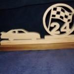 Race Car and Flag